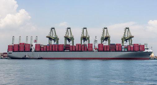 Container Ship Millau Bridge